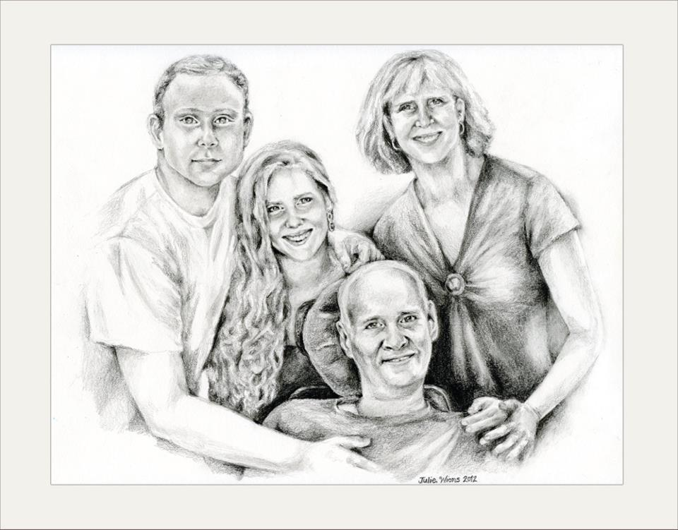my family portrait in memory of my father creations by julie